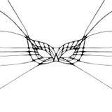 Ejemplo monocromático gráfico con la máscara Imagen de archivo libre de regalías