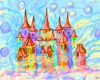 Ejemplo multicolor de Dreamstown Foto de archivo libre de regalías