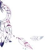 Ejemplo multicolor gráfico del dreamcatcher Imagenes de archivo
