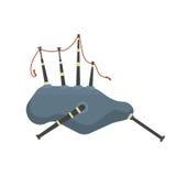 Ejemplo musical tradicional del vector de la gaita escocesa stock de ilustración
