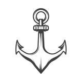 Ejemplo náutico del vector del ancla en estilo monocromático del vintage Diseñe el elemento para el logotipo, etiqueta, emblema Fotos de archivo libres de regalías