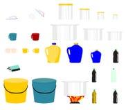 Ejemplo nacional del vector del grupo de los artículos del control de casa stock de ilustración