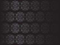 Ejemplo negro de lujo del papel pintado floral Foto de archivo