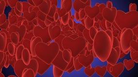 Ejemplo notable de los corazones púrpuras libre illustration