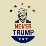 Ejemplo nunca Donald Trump, diseño plano Fotografía de archivo libre de regalías