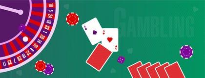 Ejemplo o cubierta del vector para un sitio sobre el juego stock de ilustración