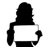 Ejemplo original de alta calidad de una mujer con un cartel libre illustration