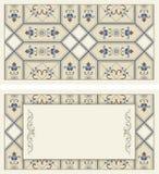 Ejemplo ornamental del vintage para casarse las invitaciones, tarjetas de felicitación Fotografía de archivo libre de regalías