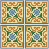 Ejemplo ornamental inconsútil hermoso del vector del fondo de la teja ilustración del vector