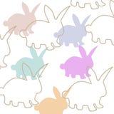 Ejemplo ostern lindo del vector del conejo Conejito de la historieta de Pascua aislado en el fondo blanco Fotografía de archivo libre de regalías