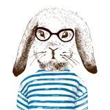 Ejemplo para arriba vestido del conejito ilustración del vector