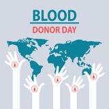 Ejemplo para el día del donante de sangre del mundo imágenes de archivo libres de regalías