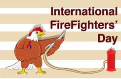 Ejemplo para el día internacional del ` de los bomberos Fotos de archivo