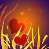 Ejemplo para el tema para el día de tarjeta del día de San Valentín Imágenes de archivo libres de regalías