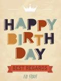 Ejemplo para la tarjeta del feliz cumpleaños ilustración del vector