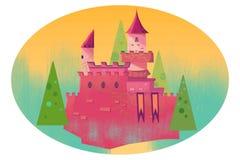 Ejemplo para los niños: Castillo en el bosque Foto de archivo