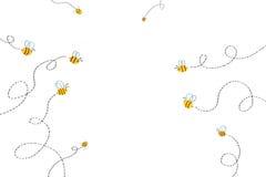 Ejemplo para los niños: Trayectoria de las abejas ilustración del vector
