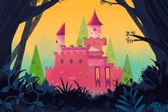 Ejemplo para los niños: Castillo en el bosque Imágenes de archivo libres de regalías