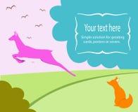 Ejemplo para una tarjeta de felicitación ilustración del vector