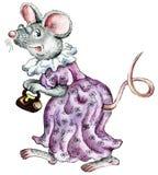 Ejemplo pasado de moda de la historieta del ratón stock de ilustración