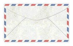 Ejemplo pasado de moda del sobre del correo aéreo Fotos de archivo