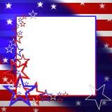 Ejemplo patriótico de la bandera Imagenes de archivo