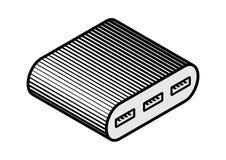 Ejemplo periférico del dispositivo de hardware del eje del ordenador USB Fotos de archivo libres de regalías