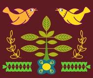 Ejemplo plano bosque del Hada-cuento en el verano stock de ilustración