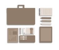Ejemplo plano conceptual de una persona del negocio Fotografía de archivo libre de regalías