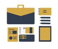 Ejemplo plano conceptual de una persona del negocio Imagen de archivo