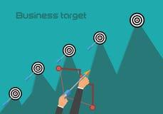 Ejemplo plano de la nueva blanco del negocio Concepto del crecimiento de los ingresos Imagen de archivo libre de regalías
