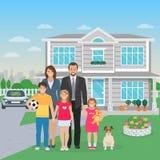 Ejemplo plano de los miembros de la familia libre illustration