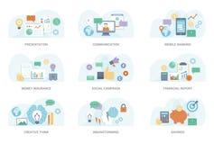 Ejemplo plano del concepto stock de ilustración