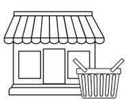 Ejemplo plano del diseño de las compras Foto de archivo