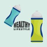 Ejemplo plano del diseño sano de la forma de vida Imagen de archivo