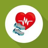 Ejemplo plano del diseño sano de la forma de vida Imagen de archivo libre de regalías