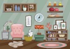 Ejemplo plano del estilo de la sala de estar libre illustration