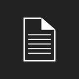 Ejemplo plano del icono de documento Fotografía de archivo libre de regalías