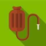 Ejemplo plano del icono del calentador médico Foto de archivo