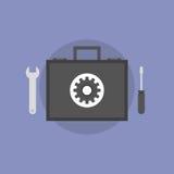 Ejemplo plano del icono del soporte técnico ilustración del vector