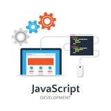 Ejemplo plano del Javascript Foto de archivo libre de regalías
