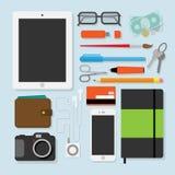 Ejemplo plano del stylevector del diseño de las cosas de cada día Imagenes de archivo