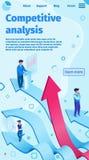 Ejemplo plano del vector del análisis competitivo stock de ilustración