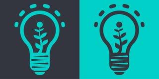 Ejemplo plano del vector de la lámpara de Eco stock de ilustración