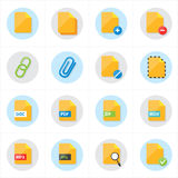Ejemplo plano del vector de los iconos del fichero de los iconos Foto de archivo libre de regalías