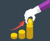 Ejemplo plano del vector del concepto de diseño del dinero Imagen de archivo
