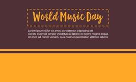 Ejemplo plano del vector del día de la música del mundo