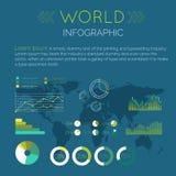 Ejemplo plano del vector del diseño de Infographic de la palabra ilustración del vector