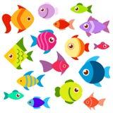 Ejemplo plano del vector del estilo de los pescados Imagenes de archivo