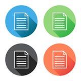 Ejemplo plano del vector del icono de documento Fotografía de archivo libre de regalías
